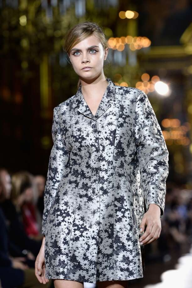 Model Cara Delevingne walks the runway during Stella McCartney  show as part of the Paris Fashion Week Womenswear Spring/Summer 2014 at Palais Garnier   on Sept. 30. Photo: Pascal Le Segretain, Getty Images