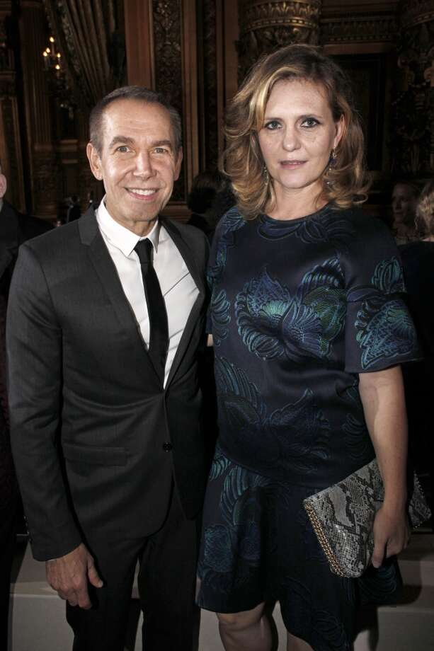 Jeff Koons, left, and his wife Justine Wheeler Photo: Thibault Camus, Associated Press