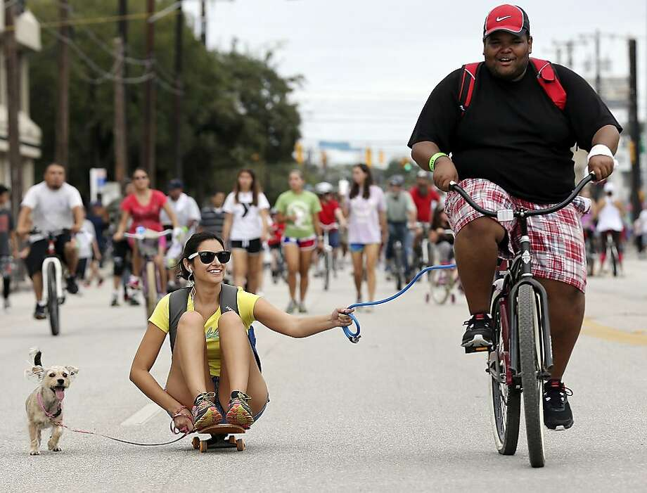 Mass transit in San Antonio: Joshua Glenn and Cuete take Melissa Garcia for a