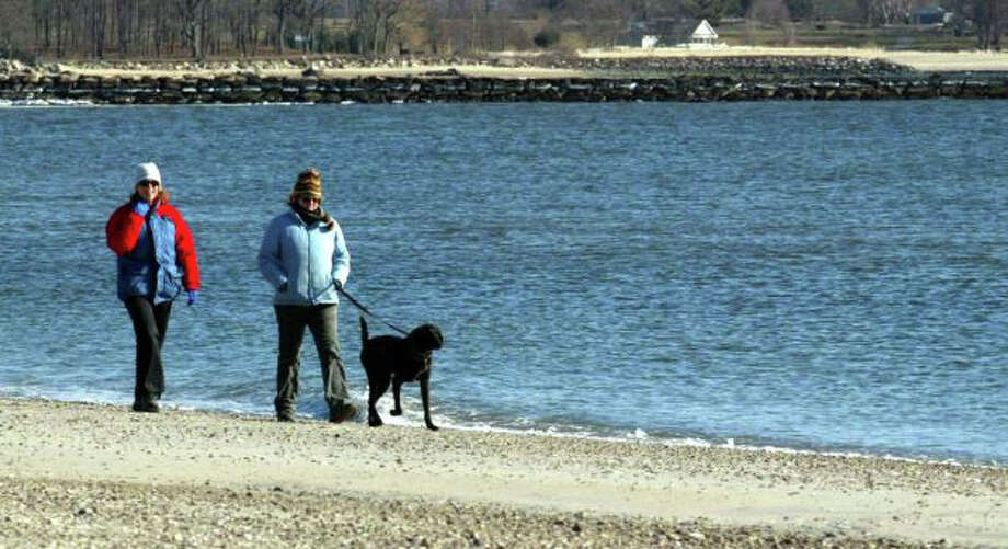 Dogs and horses are allowed back on the beach, now that the summer beach season has officially closed. With the exception of Jennings Beach, dogs must be leashed. Photo: File Photo / Fairfield Citizen
