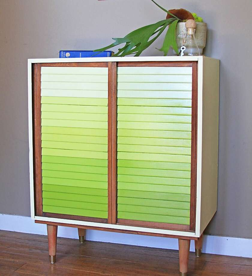 They added legs to this cabinet and painted the slats. Photo: Lauren Nelson