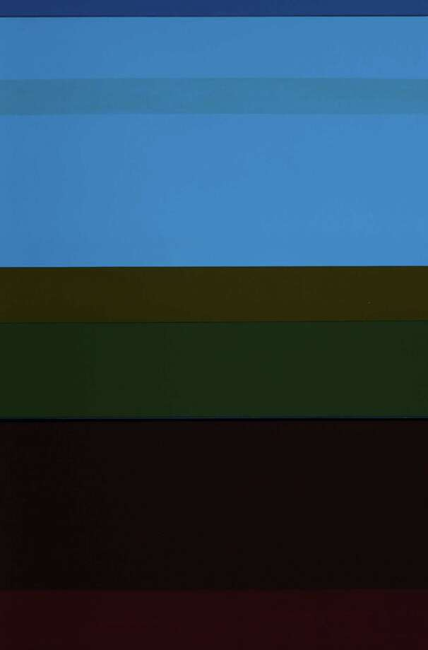 """Massachusetts artist Jane Lincoln won second plan in the """"33rd Annual Faber Birren National Color Show"""" for painting, """"Assured Azure."""" The exhibition is on view at the Stamford Art Association through Nov. 7. Photo: Contributed Photo / Connecticut Post Contributed"""