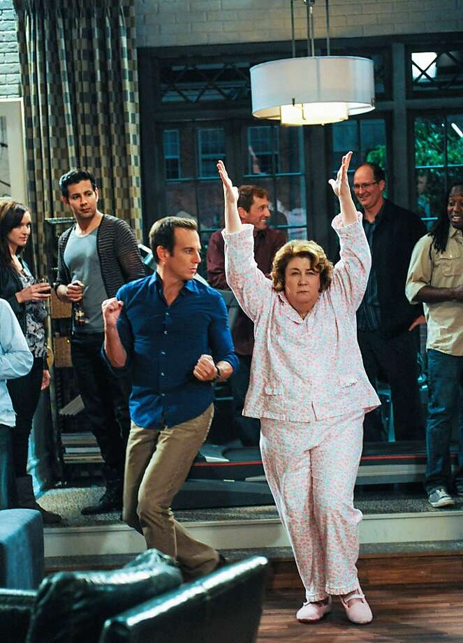 "Carol (Margo Martindale) sleepwalks into son Nathan's (Will Arnett) party in ""The Millers."" Photo: Richard Foreman, CBS"