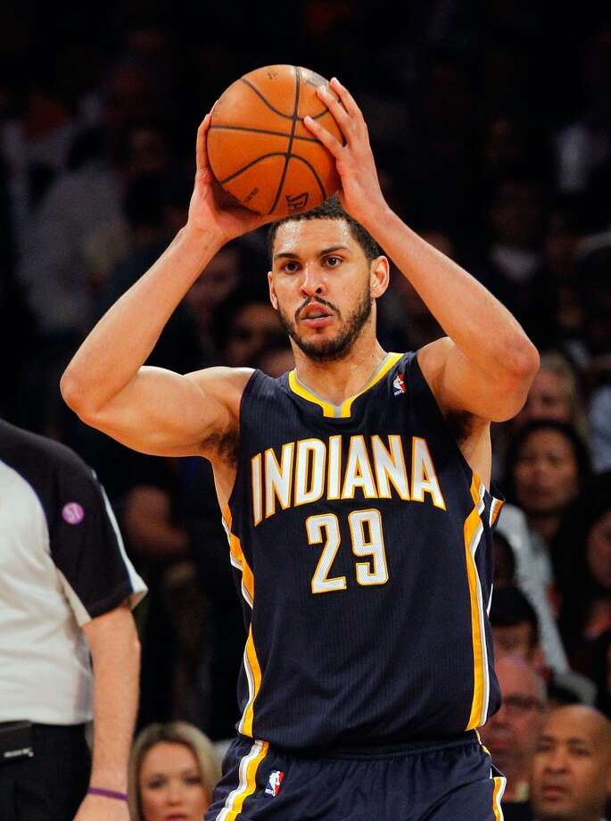 Jeff Ayres, who was Jeff Pendergraph when he played for the Pacers last season, signed a two-year contract with the Spurs during the offseason. Photo: Jim McIsaac, Getty Images