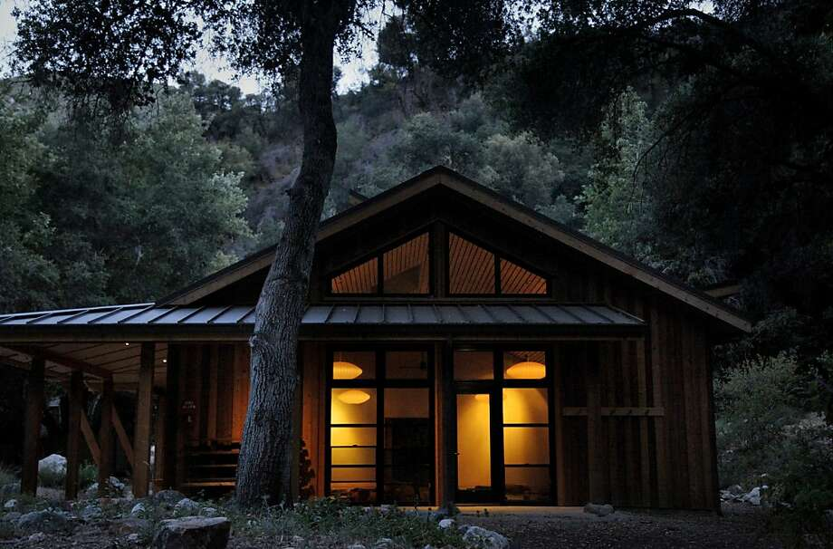 The design of the retreat hall at Tassajara Zen Mountain Center does not follow Japanese austerity tradition, but echoes the resort's early 20th century buildings. Photo: Preston Gannaway, Special To The Chronicle
