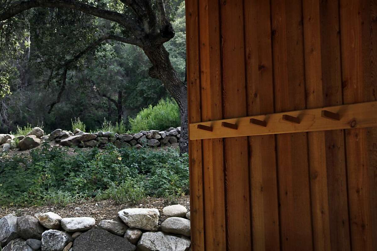 Exterior detail of the retreat hall at Tassajara Zen Mountain Center in Tassajara, Calif., on Friday, May 24, 2013.