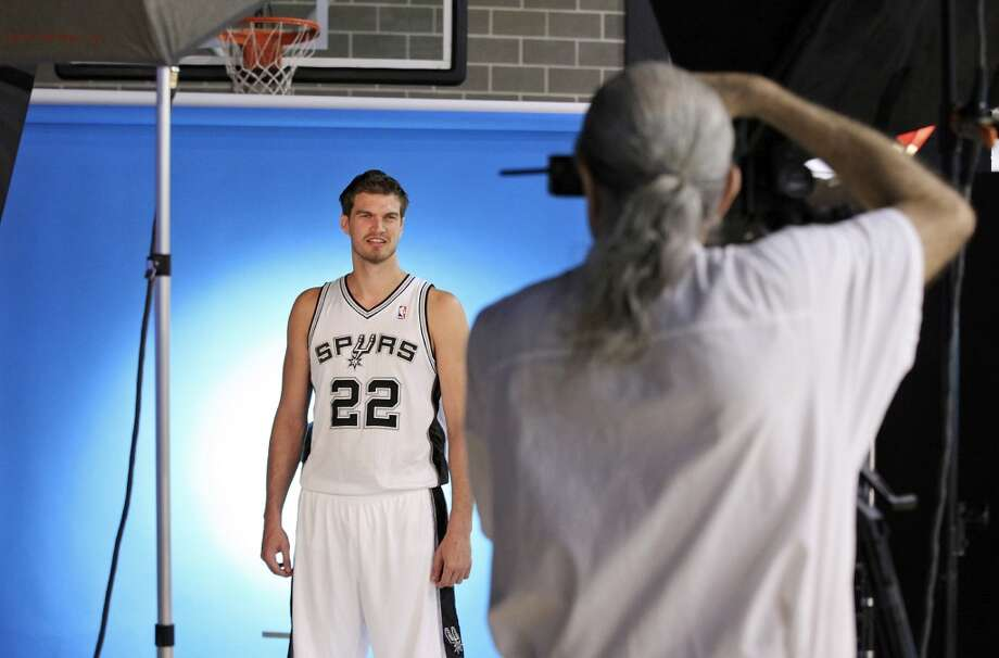 San Antonio Spurs' Tiago Splitter is photographed by D. Clarke Evans during media day Monday Sept. 30, 2013 at the team's practice facility. Photo: Edward A. Ornelas, San Antonio Express-News