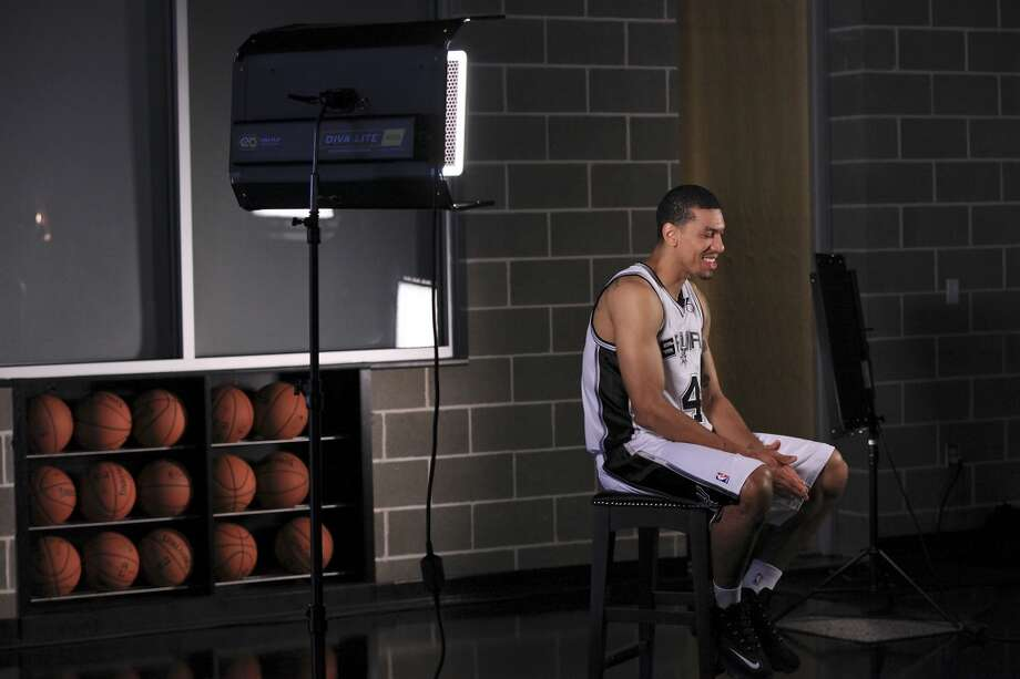 San Antonio Spurs' Danny Green laughs while being interviewed during media day Monday Sept. 30, 2013 at the team's practice facility. Photo: Edward A. Ornelas, San Antonio Express-News