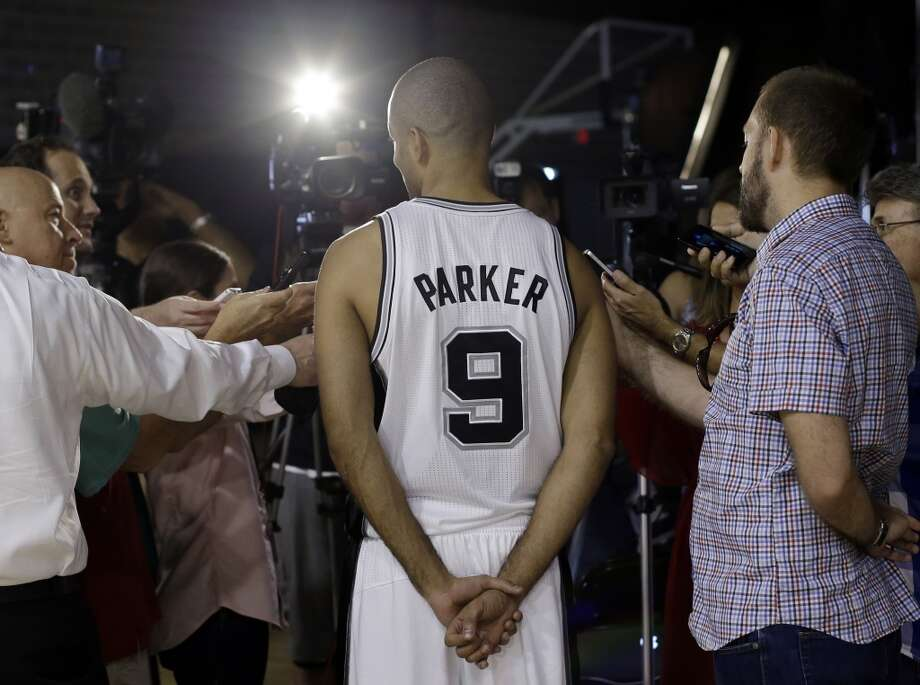 San Antonio Spurs' Tony Parker, of France, is interviewed during the team's NBA basketball media day, Monday, Sept. 30, 2013, in San Antonio. Photo: Eric Gay, Associated Press
