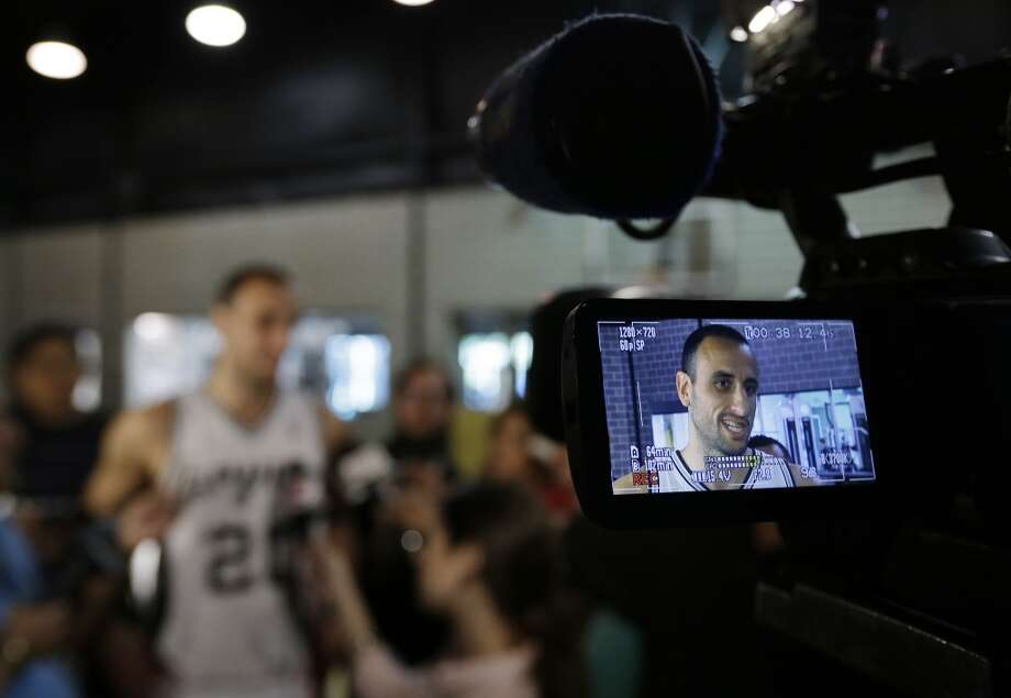 San Antonio Spurs' Manu Ginobili, of Argentina, talks to reporters during their NBA basketball media day, Monday, Sept. 30, 2013, in San Antonio. Photo: Eric Gay, Associated Press