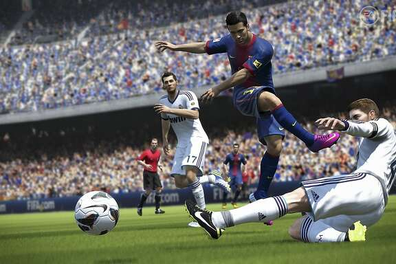 FIFA 14 by Electronic Arts features more realistic game play, and dozens of international teams.