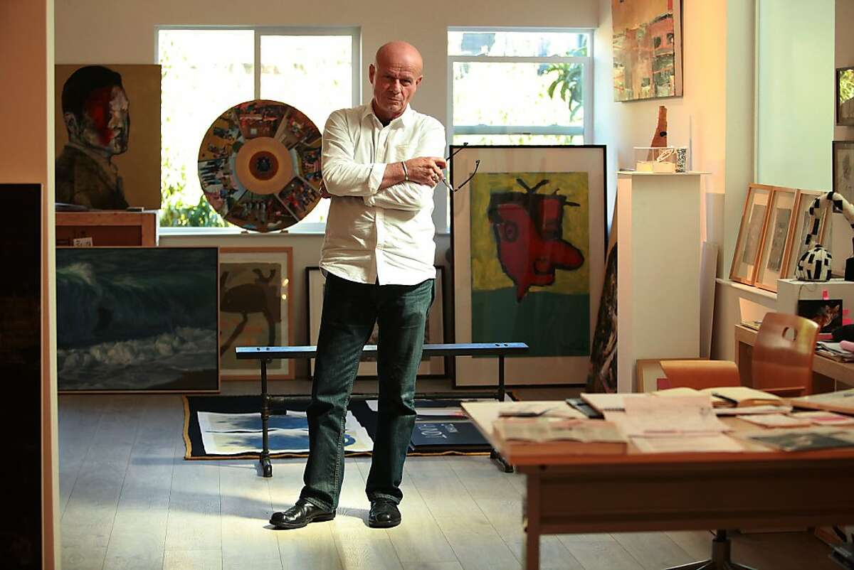 Gallery owner Jack Fischer recently moved his gallery from downtown to the 'Potrero Flats' area of San Francisco, California, on Thursday, September 19, 2013.