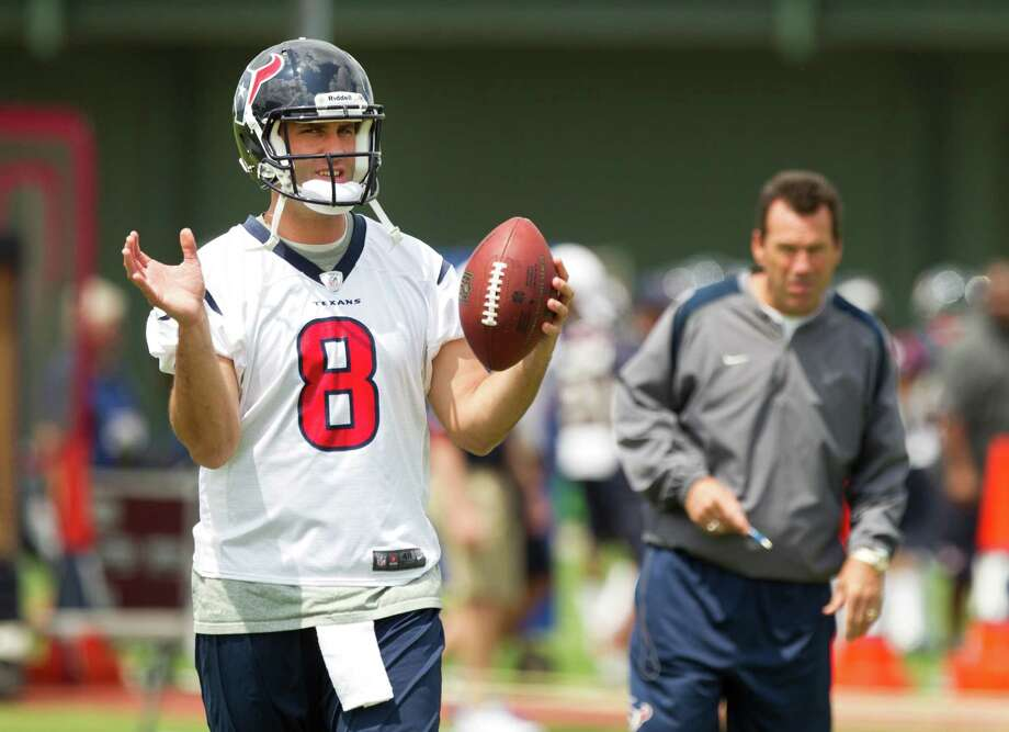 Coach Gary Kubiak has Matt Schaub's back as the Texans try to shake off back-to-back losses. Photo: Brett Coomer, Staff / © 2013 Houston Chronicle