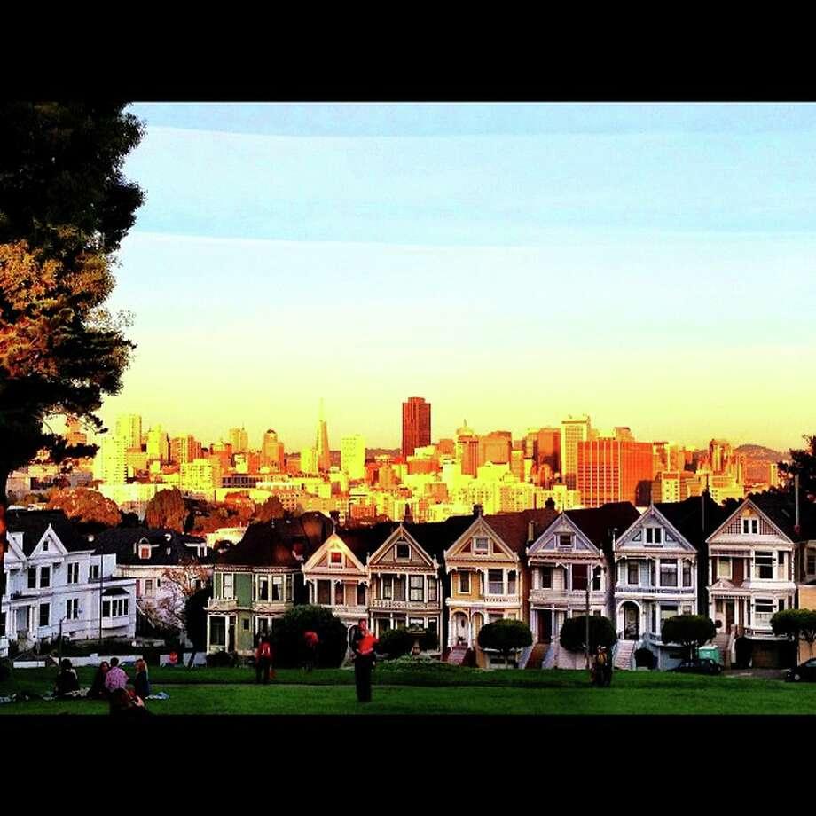 Caitlin Korn, who Instagrams as  @catumachupichu, lives on Nob Hill. She took this shot of the famous Painted Ladies on a visit to Alamo Square Park.