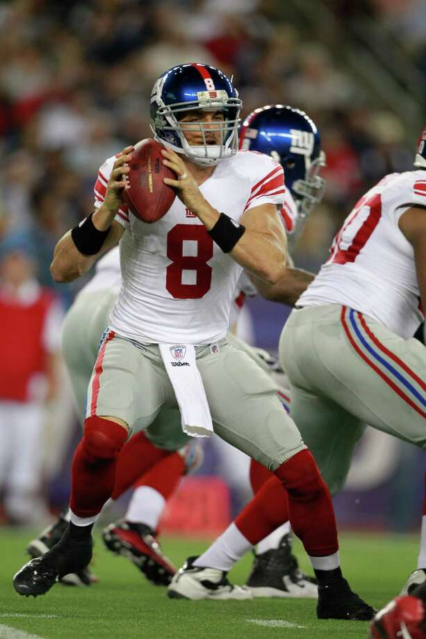 David Carr didn't see the field during the 2011 season as Eli Manning guided the Giants to their second Super Bowl title in  four seasons. Photo: Michael Dwyer, Associated Press / AP2011