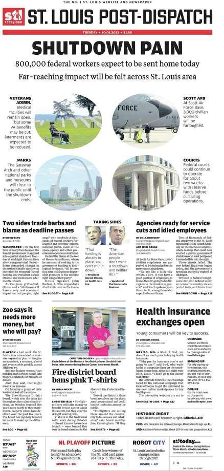 St. Louis Post Dispatch, St. Louis, Mo. Photo: Newseum.org