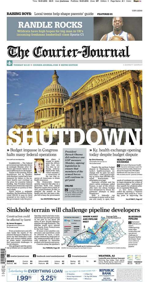 The Courier-Journal, Louisville, Ky. Photo: Newseum.org