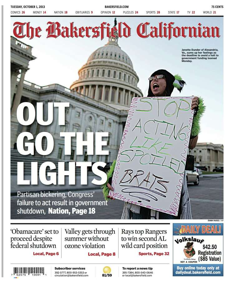 The  Bakersfield Californian Photo: Newseum.org