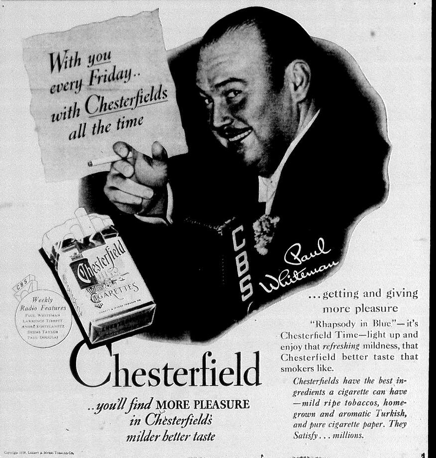 1938: Bandleader Paul Whiteman selling ads on the Chesterfield weekly radio show. Photo: San Antonio Express-News File Photo