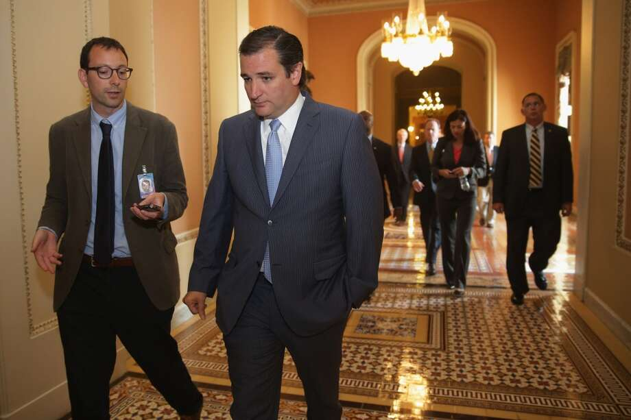Sen. Ted Cruz (R-TX) leaves a Republican Senate caucus meeting at the U.S. Capitol September 30, 2013 in Washington, DC. Photo: Chip Somodevilla, Getty Images