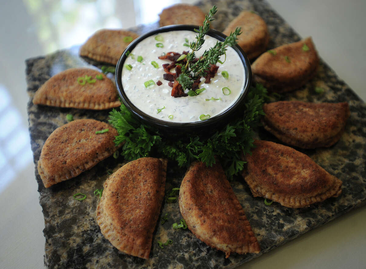 Chef Carol Koty, of Stratford, will enter her signature Triple Bacon Polish Pierogies in the new bacon category at the World Food Championships in Las Vegas in November, at The Waterview in Monroe on Tuesday, October 1, 2013.