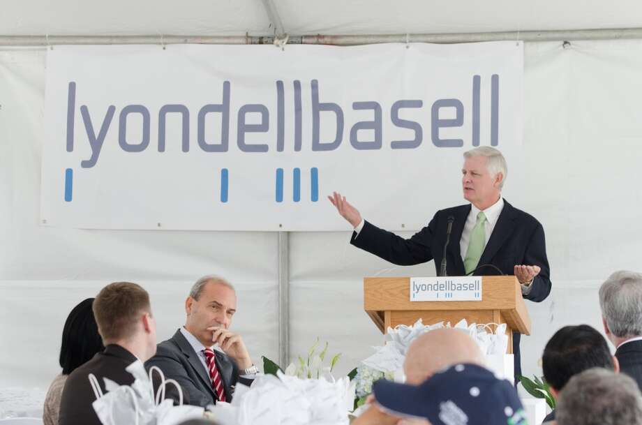 Jim Gallogly, CEO of LydondellBasell, speaks during the opening of the company's Houston Technology Center on Monday, September 30, 2013 in Channelview, TX. Photo: Jamaal Ellis, For The Chronicle