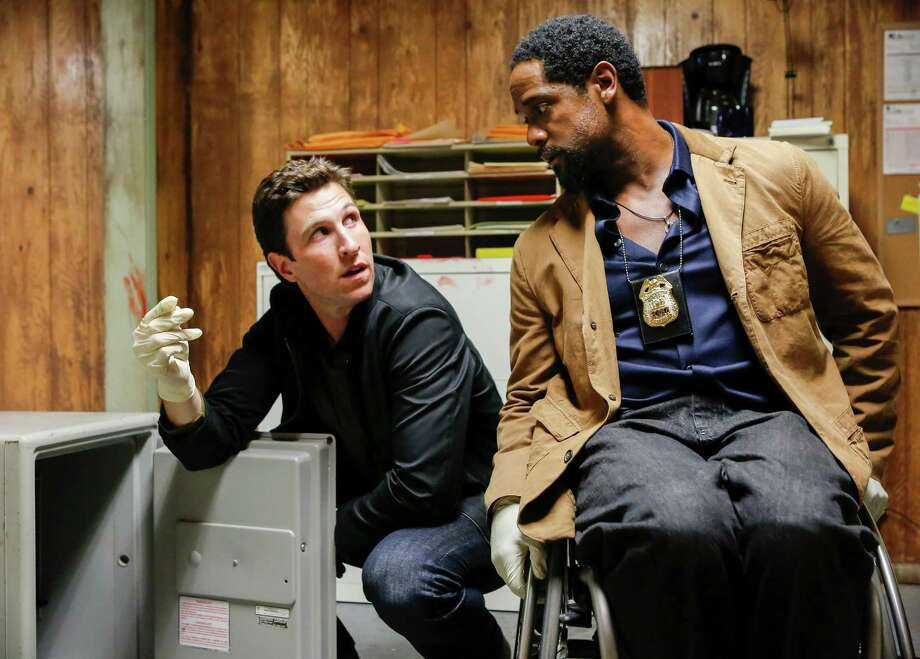 "IRONSIDE -- ""Pentimento"" Episode 102 -- Pictured: (l-r)  Pablo Schreiber as Virgil, Blair Underwood as Robert Ironside -- (Photo by: Vivian Zink/NBC) ORG XMIT: Season: 1 Photo: NBC / 2013 NBCUniversal Media, LLC"