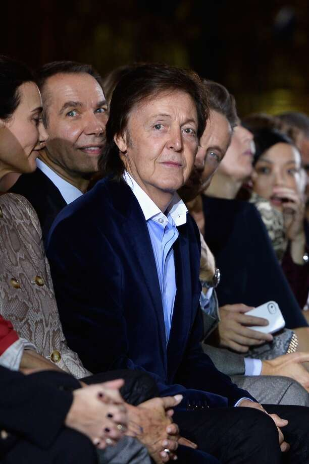 Paul McCartney attends the Stella McCartney show as part of the Paris Fashion Week Womenswear Spring/Summer 2014 at Palais Garnier on September 30, 2013 in Paris, France.  (Photo by Pascal Le Segretain/Getty Images) Photo: Pascal Le Segretain, Getty Images