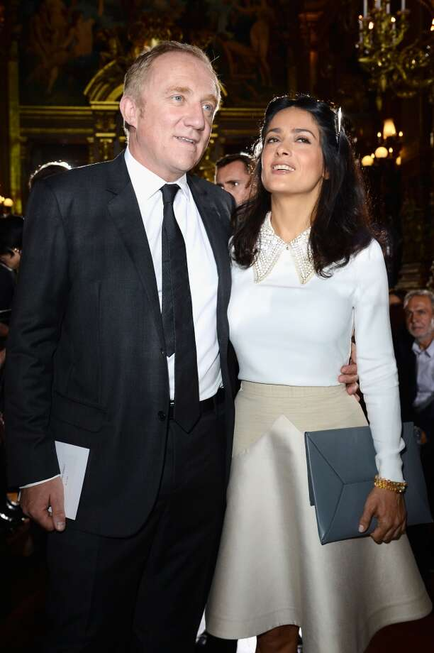 Francois-Henri Pinault and Salma Hayek attend the Stella McCartney show as part of the Paris Fashion Week Womenswear Spring/Summer 2014 at Palais Garnier on September 30, 2013 in Paris, France.  (Photo by Pascal Le Segretain/Getty Images) Photo: Pascal Le Segretain, Getty Images