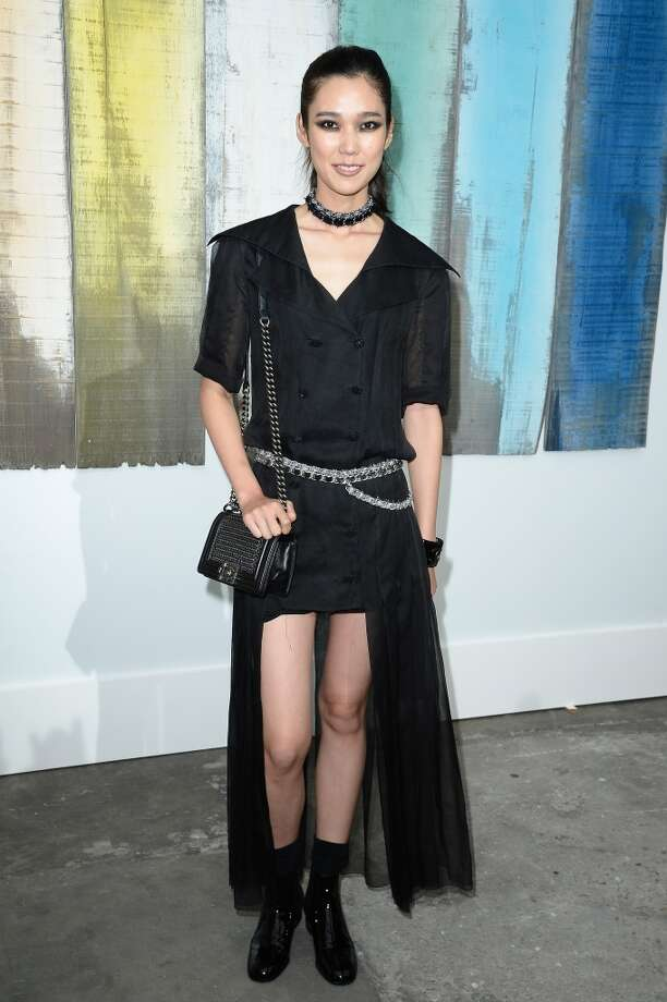 Tao Okamoto attends the Chanel show as part of the Paris Fashion Week Womenswear  Spring/Summer 2014 at Grand Palais on October 1, 2013 in Paris, France.  (Photo by Pascal Le Segretain/Getty Images) Photo: Pascal Le Segretain, Getty Images