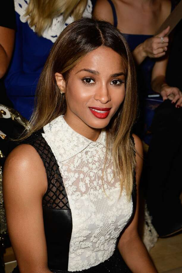 Ciara attends the Valentino show as part of the Paris Fashion Week Womenswear  Spring/Summer 2014 at Espace Ephemere Tuileries on October 1, 2013 in Paris, France.  (Photo by Pascal Le Segretain/Getty Images) Photo: Pascal Le Segretain, Getty Images