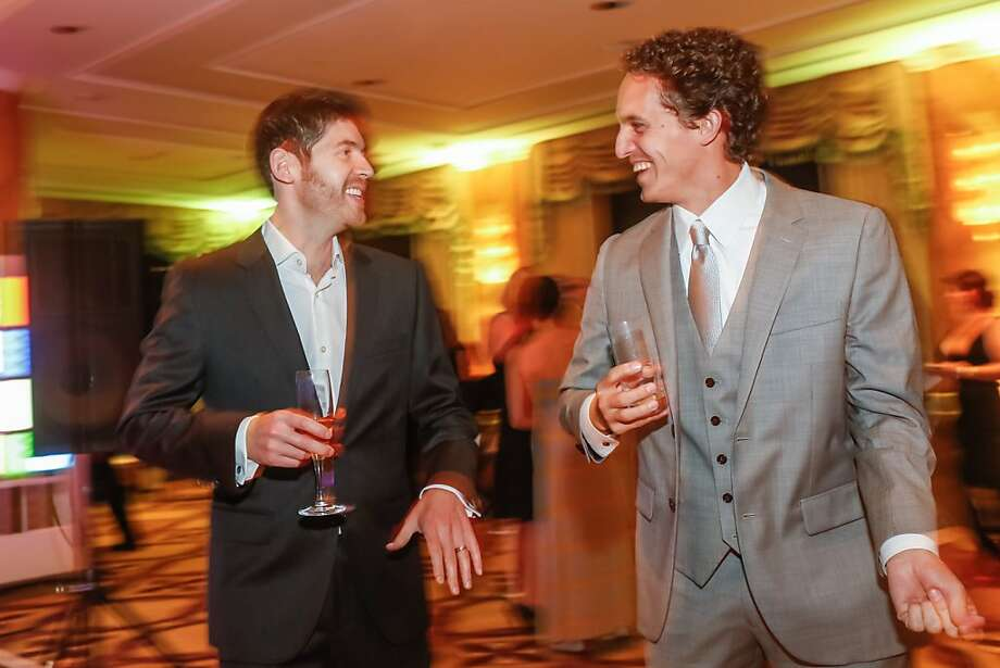 GitHub CEO Tom Preston-Werner (left) and CIO Scott Chacon at GitHub's black-tie gala at the Fairmont. Photo: GitHub
