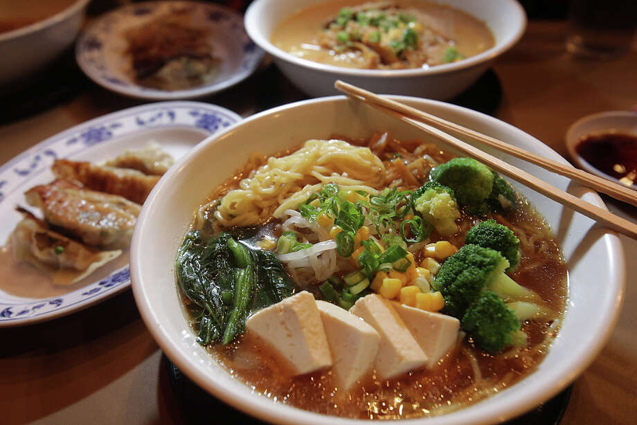 Aloha Ramen:This hole-in-the-wall Greenwood spot fills up quickly with fans of its katsu tan tan and many other filling ramen bowls. Pictured is the veggie ramen. (8102 Greenwood Ave., Seattle) Photo: Photo By Horace / Horace