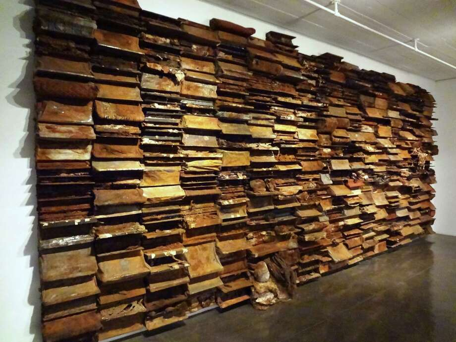 "Leonardo Drew's massive ""#48"" was created during the artist's 1995 residency at Artpace. Photo: Steve Bennett / San Antonio Express-News"