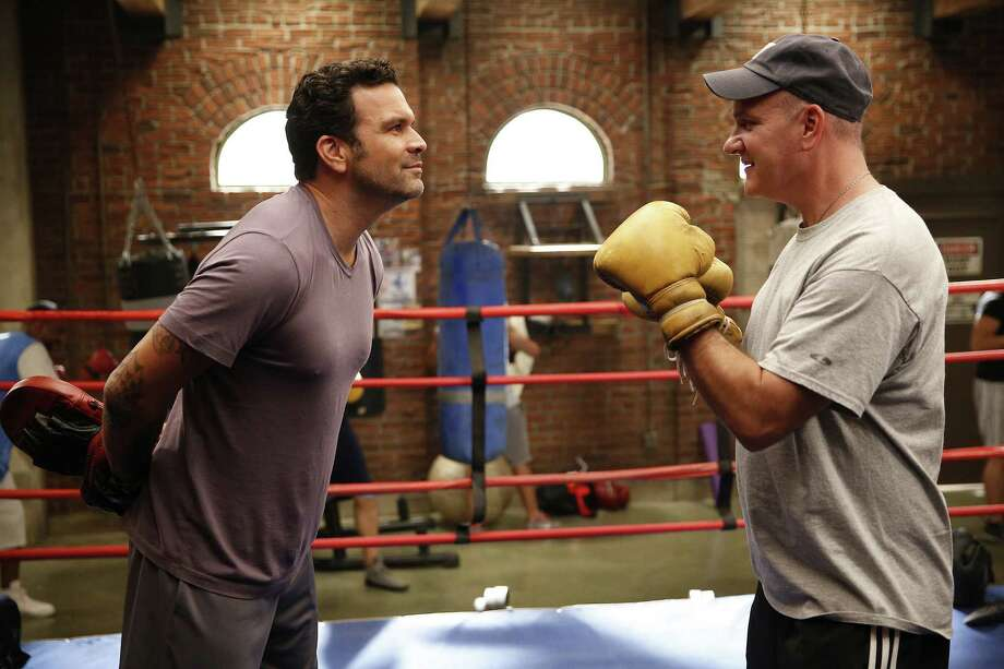 Miguel Hernandez (Ricardo Chavira) and Dan Yoder (Mike O'Malley) take a dislike to each other on their new sitcom. Photo: NBC