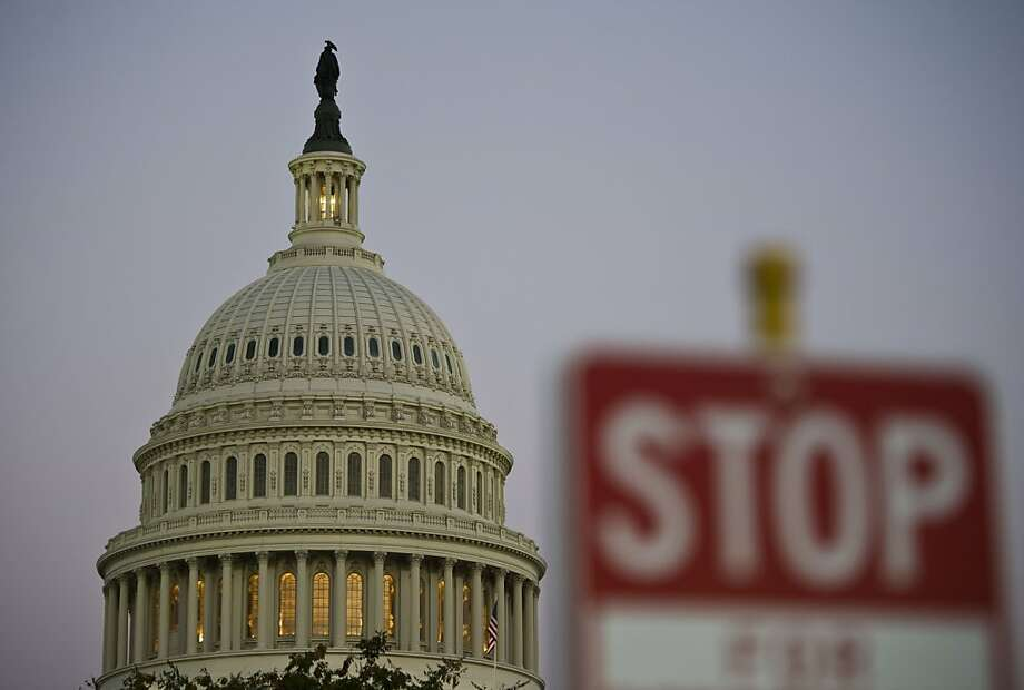 Let's hope the government shutdown ends soon before photographers run out of traffic signs to shoot in front of 