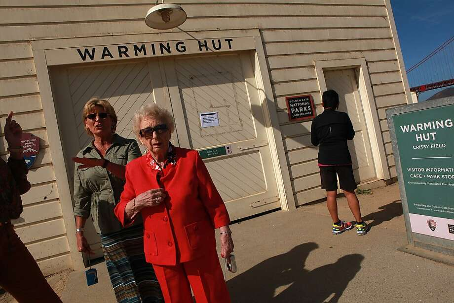 Ardis Miriani of Rancho Cucamonga (San Bernardino County) had the bad luck of going to the Warming Hut on her birthday in October: It was closed because of the government shutdown of national park sites. Photo: Liz Hafalia, The Chronicle