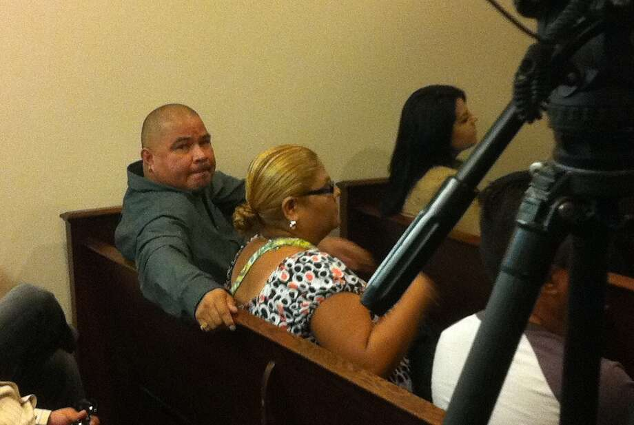 """Murder defendant Martin Barrera Balboa sits in the 227th state District Court Tuesday as his trial is delayed due to the shooting death last weekend of Julie Ann Rodriguez, described as a """"critical"""" state witness. Photo: Craig Kapitan/Express-News"""