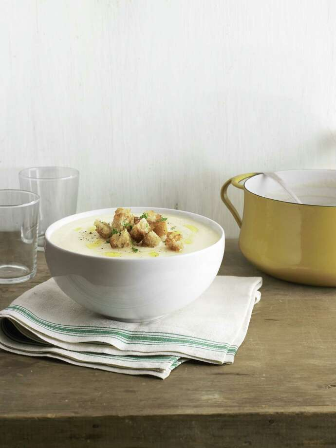 Country Living  recipe for Celery-Root Soup with Truffled Croutons. Photo: Andrew Purcell