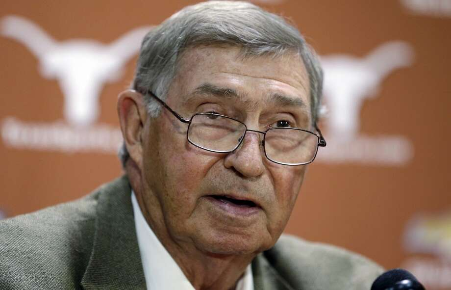 With DeLoss Dodds' retirement as Texas' athletic director, the Longhorns will have to fill a void replacing one of the most powerful figures in college sports. San Antonio Express-News reporter Tim Griffin analyzes a few of Dodds' potential replacements. Photo: Eric Gay, Associated Press