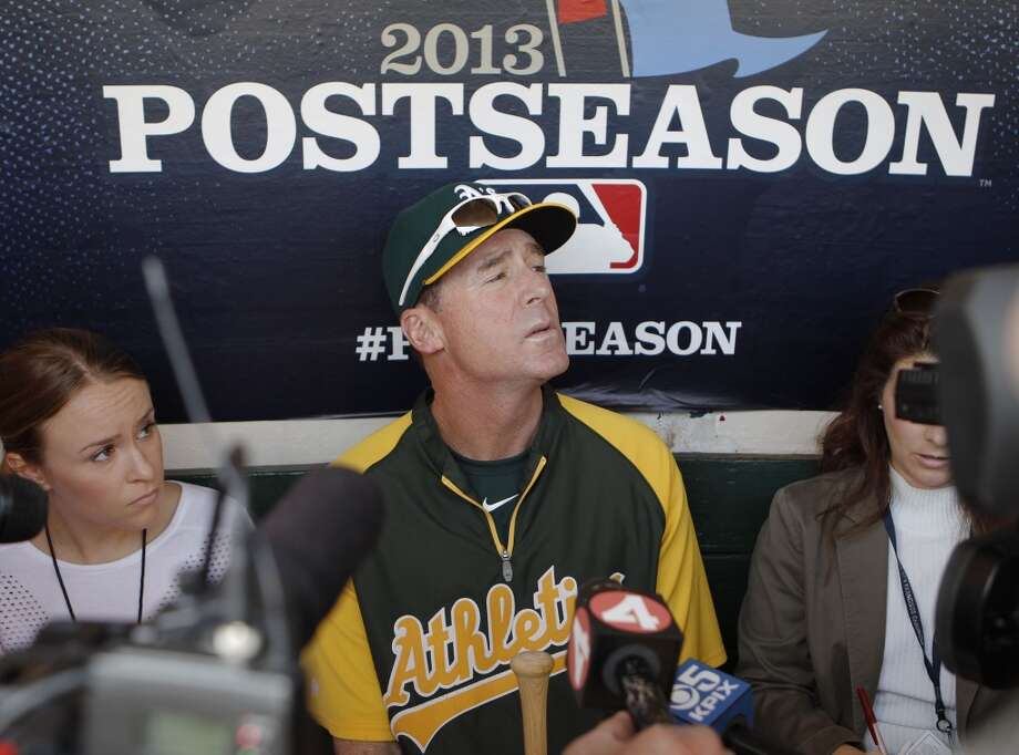 Athletics' manager Bob Melvin meets with the media  on Tuesday Oct. 1, 2013, in Oakland, Calif. at O.co Coliseum as the Oakland Athletics get ready for their divisional series against the Detroit Tigers. Photo: The Chronicle