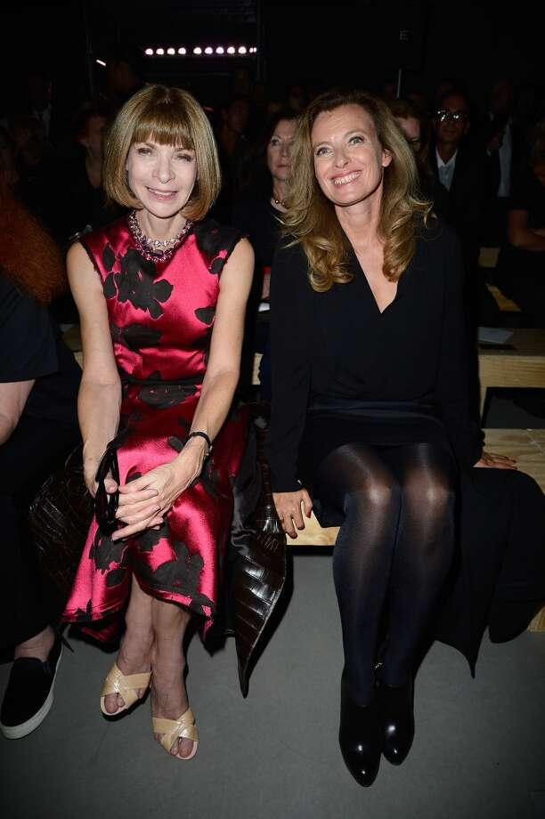 Anna Wintour and  French First Lady Valerie Trierweiler attends the Saint Laurent show as part of the Paris Fashion Week Womenswear  Spring/Summer 2014 on September 30, 2013 in Paris, France.  (Photo by Pascal Le Segretain/Getty Images) Photo: Pascal Le Segretain, Getty Images
