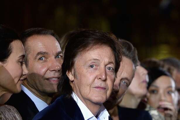 Paul McCartney attends the Stella McCartney show as part of the Paris Fashion Week Womenswear Spring/Summer 2014 at Palais Garnier on September 30, 2013 in Paris, France.  (Photo by Pascal Le Segretain/Getty Images)