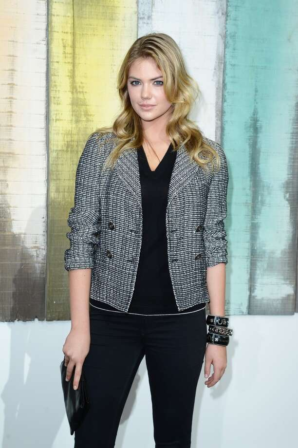 Kate Upton attends the Chanel show as part of the Paris Fashion Week Womenswear  Spring/Summer 2014 at Grand Palais on October 1, 2013 in Paris, France.  (Photo by Pascal Le Segretain/Getty Images) Photo: Pascal Le Segretain, Getty Images
