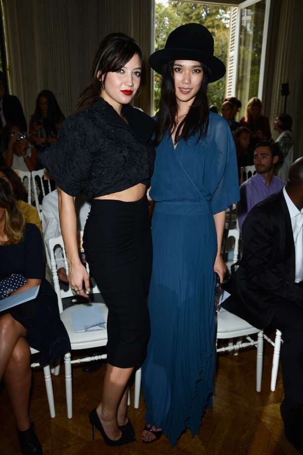 Daisy Lowe and Tao Okamoto attend the John Galliano show as part of the Paris Fashion Week Womenswear  Spring/Summer 2014 at Hotel Salomon de Rothschild on September 29, 2013 in Paris, France.  (Photo by Pascal Le Segretain/Getty Images) Photo: Pascal Le Segretain, Getty Images