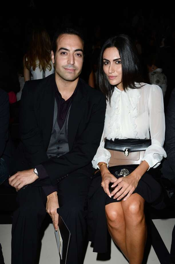Mohammed Al Turki and Diala Makki attend the Elie Saab show as part of the Paris Fashion Week Womenswear Spring/Summer 2014 at Espace Ephemere Tuileries on September 30, 2013 in Paris, France.  (Photo by Pascal Le Segretain/Getty Images) Photo: Pascal Le Segretain, Getty Images