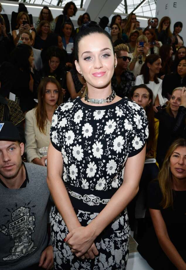 Katy Perry attends the Chanel show as part of the Paris Fashion Week Womenswear  Spring/Summer 2014 at Grand Palais on October 1, 2013 in Paris, France.  (Photo by Pascal Le Segretain/Getty Images) Photo: Pascal Le Segretain, Getty Images