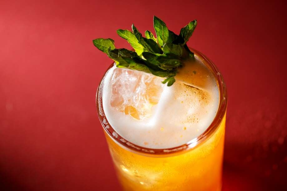 The Mezcal and epazote tonic at The Pastry War, a new tequila bar downtown which serves agave-based spirits: tequila, mezcal and sotol. ( Michael Paulsen / Houston Chronicle ) Photo: Michael Paulsen, Houston Chronicle