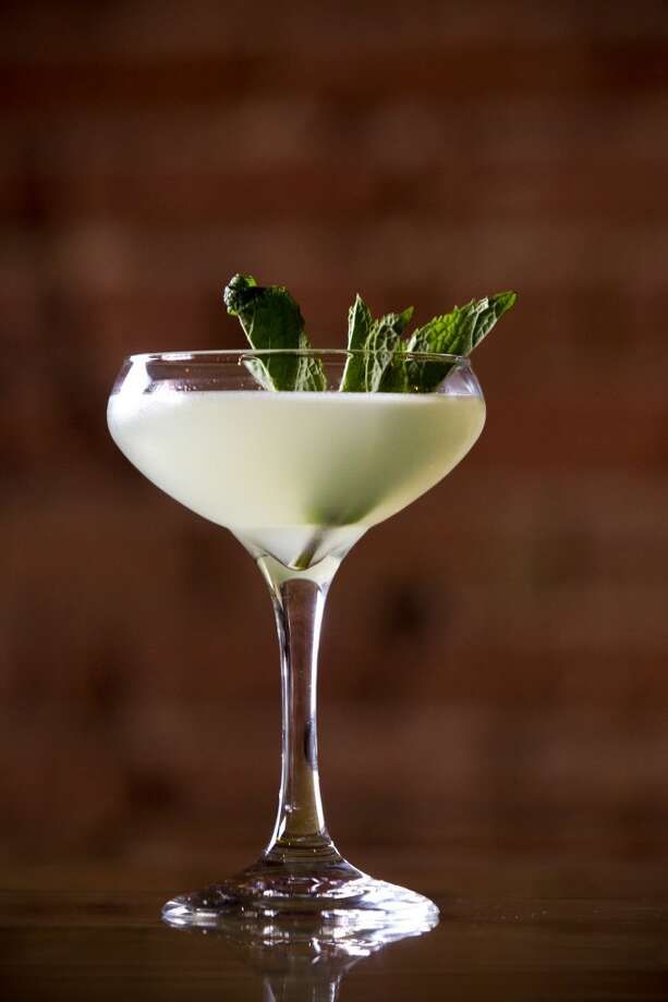 The Southside is shown at Goro & Gun. The Southside is made with 2 ounces of gin, 1 ounce of lemon juice, three-quarters of an ounce of simple syrup, and mint. ( Brett Coomer / Houston Chronicle ) Photo: Brett Coomer, Houston Chronicle