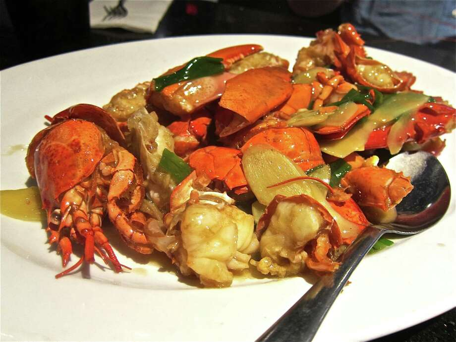 Whole lobster with ginger and scallion is a hit at Hai Cang. Photo: Alison Cook